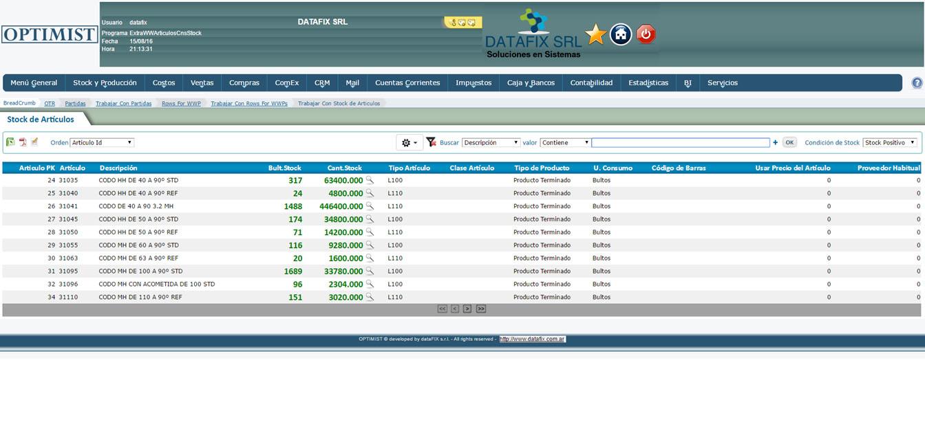 Stock - Stock por Articulo